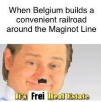 Belgium, History, and Railroad: When Belgium builds a  convenient railroad  around the Maginot Line  S Frei Real Estaty