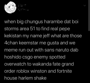 When Big Chungus Harambe Dat Boi Storms Area 51 To Find Real Pepe