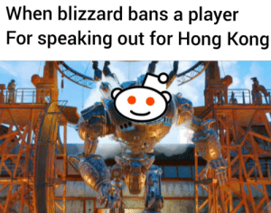 Reddit, Blizzard, and Hong Kong: When blizzard bans a player  For speaking out for Hong Kong Liberty prime online