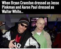 "<p>Oh my God via /r/memes <a href=""https://ift.tt/2FnwQDL"">https://ift.tt/2FnwQDL</a></p>: When Bryan Cranston dressed as Jesse  Pinkman and Aaron Paul dressed as  Walter White... <p>Oh my God via /r/memes <a href=""https://ift.tt/2FnwQDL"">https://ift.tt/2FnwQDL</a></p>"
