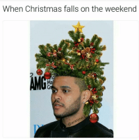 Funny, The Weekend, and Blow My Mind: When Christmas falls on the weekend This is LITERALLY true and it's blowing my mind (@aranjevi) christmas theweekend