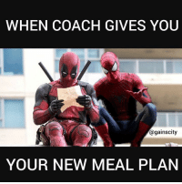 Coach,  Meal Plan, and Coaches: WHEN COACH GIVES YOU  againscity  YOUR NEW MEAL PLAN Sh*t.
