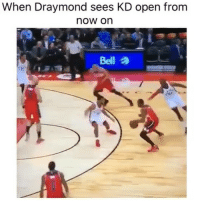 Sports, Open, and Now: When Draymond sees KD open from  now on  to And 1? 😂