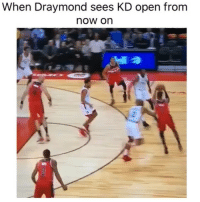 Basketball, Facts, and Nba: When Draymond sees KD open from  now or  2 Facts 😂 Via @ComplexSports