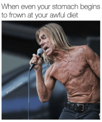Memes, 🤖, and Stomach: When even your stomach begins  to frown at your awful diet bruhh💀💀