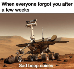 When Everyone Forgot You After a Few Weeks Sad Beep Noises