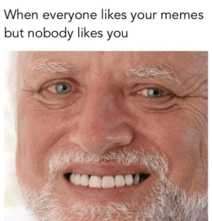 meirl by The_Struggle_Bus_7 FOLLOW 4 MORE MEMES.: When everyone likes your memes  but nobody likes you meirl by The_Struggle_Bus_7 FOLLOW 4 MORE MEMES.