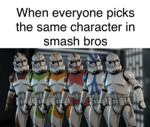 Random only please: When everyone picks  the same character in  smash bros Random only please