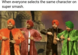 Super Duper Smash by thePotatoRises MORE MEMES: When everyone selects the same character on  super smash. Super Duper Smash by thePotatoRises MORE MEMES