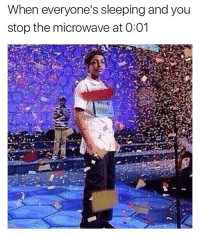 Instagram, Sleeping, and Dank Memes: When everyone's sleeping and you  stop the microwave at 0:01 @memegourmet is one of the funniest pages on Instagram