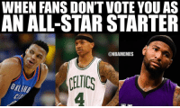 Biggest snubs so far? ... westbrook thomas boogie cousins nbaallstar allstar nba meme memes nbamemes: WHEN FANS DON'TVOTE YOU AS  N ALL-STAR STARTER  @NBAMEMES  CELTICS Biggest snubs so far? ... westbrook thomas boogie cousins nbaallstar allstar nba meme memes nbamemes