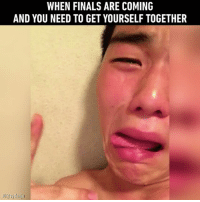 Hang on brother! Follow @9gag for more App📲👉@9gagmobile 👈 9gag finals exam school cute selfie relatable (credit: @aydenju): WHEN FINALS ARE COMING  AND YOU NEED TO GET YOURSELF TOGETHER Hang on brother! Follow @9gag for more App📲👉@9gagmobile 👈 9gag finals exam school cute selfie relatable (credit: @aydenju)
