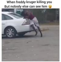 Funny, Lmao, and Freddy: When freddy kruger killing you  But nobody else can see him Lmao he need some milk 😂