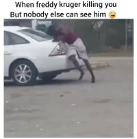 He needs some milk! 😂 (Follow @nochilllcomedy - nochilllcomedy bruh): When freddy kruger killing you  But nobody else can see him He needs some milk! 😂 (Follow @nochilllcomedy - nochilllcomedy bruh)