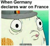 Polandball: When Germany  declares war on France  OH NEPIUNE