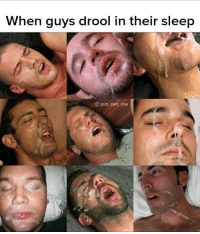 drool: When guys drool in their sleep  @ gone awol now