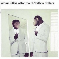 Internet, Memes, and Undefeated: when H&M offer me $7 billion dollars THE INTERNET IS UNDEFEATED 🤦🏽♂️ 😂