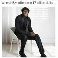 <p>Got a new deal with H&amp;M (via /r/BlackPeopleTwitter)</p>: When H&M offers me $7 billion dollars <p>Got a new deal with H&amp;M (via /r/BlackPeopleTwitter)</p>