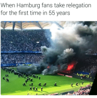 Crazy, Soccer, and Sports: When Hamburg fans take relegation  for the first time in 55 years 😲😱 things got crazy
