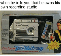Memes, Slow Motion, and Home: when he tells you that he owns his  own recording studio  e Eesy one hand  la  . Voice change  slow motion  the move  eluxe  ITH REAL  VOICES FROM  HOME ALONE2  CASSeTTE RECORDER WITH VOICE CHANGER