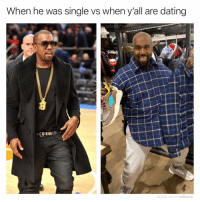 Dating, Memes, and Couch: When he was single vs when y'all are dating  adam thescreator  MADE WITH MOMUS From flexin in the VIP booth to farting in your couch cushions 😩