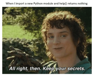 When help() is useless in Python: When help() is useless in Python