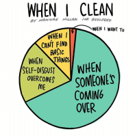 Come Over, Memes, and 🤖: WHEN HILLAm CLEAN  I WHEN WANT To  WHEN I  CANT FIND  BASIC  WHEN THINGS  SELF-DISGUST  WHEN  OVERCOMES  SOMEONES  ME  COMING  OVER