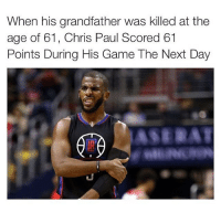 Chris Paul, Memes, and Respect: When his grandfather was killed at the  age of 61, Chris Paul Scored 61  Points During His Game The Next Day  ASERAT Doubletap for respect 🔥