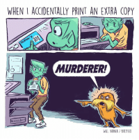 WHEN I ACCIDENTALLY PRINT AN EXTRA COPY  WILL VARNER BUT FEED The Lorax is watching. (From @willvarnerart)