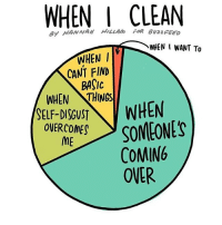 Memes, Awkward Moment, and 🤖: WHEN I CLEAN  ey HANNAH HILLAm FOR BuzzFEEo  WHEN I  CANT FIND  BASIC  WHEN THINGS  SELF-DISGUST  WHEN  SOMEONES  OVERCOME  ME  COMING  OVER (Artist: @hannahhillam) what's the most awkward moment that's happened to y'all? I would tell you mine but I'm dying just thinking about them