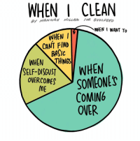 Memes, 🤖, and Wanted: WHEN I CLEAN  WHEN I WANT To  WHEN I  CANT FIND  BASIC  WHEN NTHINOS  SELF-DISGUST  WHEN  SOMEONES  OVERCOMES  ME  COMING  OVER Inspired by necessity