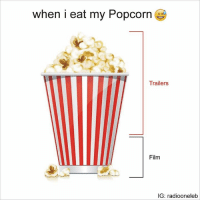 Can't be more accurate: when i eat my Popcorn  Trailers  Film  IG: radiooneleb Can't be more accurate