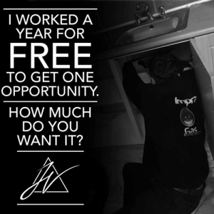 When I got asked to leave school, there wasn't many opportunities for me in the world. I decided to offer my services up and work for free for a year, to build my experience up and get ahead of people my age. I didn't earn any money for a whole year! https://t.co/XbCwKtWwRt: When I got asked to leave school, there wasn't many opportunities for me in the world. I decided to offer my services up and work for free for a year, to build my experience up and get ahead of people my age. I didn't earn any money for a whole year! https://t.co/XbCwKtWwRt