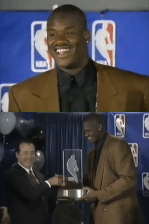"""""""When I retire & have children I can tell my son, 'I was bad.'"""" - @Shaq after winning the 1993 Rookie Of The Year award.   Player of the Week in his 1st week  Started in the All-Star game Set 5 franchise records Broke 2 backboards Finished 7th in MVP votes https://t.co/U5LaUkUZKf: """"When I retire & have children I can tell my son, 'I was bad.'"""" - @Shaq after winning the 1993 Rookie Of The Year award.   Player of the Week in his 1st week  Started in the All-Star game Set 5 franchise records Broke 2 backboards Finished 7th in MVP votes https://t.co/U5LaUkUZKf"""