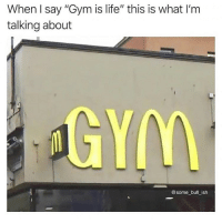"Gym, Life, and Reddit: When I say ""Gym is life"" this is what I'm  talking about  @some bull_ish"