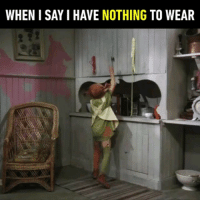 9gag, Anaconda, and Memes: WHEN I SAY I HAVE NOTHING TO WEAR I need a double-breasted coat and 100 beanies. 👗 Follow @9gag 9gag noclothes poor shopaholic