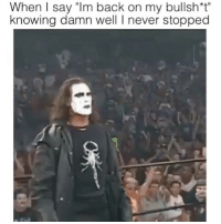 "STING SAVAGE 😂😂 @funnyblack.s ➡️ TAG 5 FRIENDS ➡️ TURN ON POST NOTIFICATIONS: When I say ""Im back on my bullsht""  knowing damn well I never stopped STING SAVAGE 😂😂 @funnyblack.s ➡️ TAG 5 FRIENDS ➡️ TURN ON POST NOTIFICATIONS"
