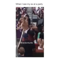 Friends, Memes, and Party: When I see my ex at a party  @randomturtle tag your friends