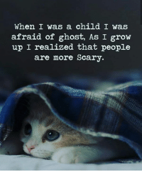 Memes, Ghost, and 🤖: When I was a child I was  afraid of ghost, As I grow  up I realized that people  are more Scary.