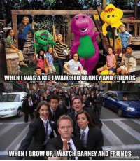 Then Vs Now... https://t.co/xhHgya414v: WHEN I WAS A KIDIWATCHED BARNEYAND FRIENDS  WHEN I GROW UPI WATCH BARNEY ANDE HEM , Then Vs Now... https://t.co/xhHgya414v
