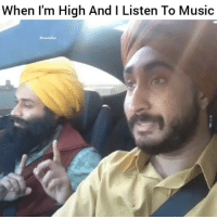 Af, Funny, and Lmao: When I'm High And I Listen To Music  #hood clips When im high af lmao