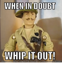 Truer words...: WHEN IN DOUBT  WHIP IT OUT!  DOWNLOAD MEME GENERATOR FROM HTTP WMEMECRUNCH.COM Truer words...