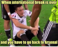 This😂 Tag an Arsenal fan..: When internationalbreakisover  Fb.com/  Trollfootball  and you have to go back to Arsenal This😂 Tag an Arsenal fan..