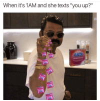 "Memes, 🤖, and Funny Posts: When it's 1AM and she texts ""you up?""  Ure  pleasure max  JustSul 😂😂😂😂 Tag 3 friends • ➫➫➫ Follow @Genuineguy_ for more funny posts daily!"