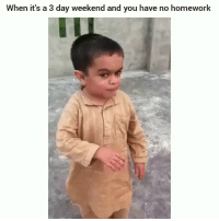 Funny, Homework, and Weekend: When it's a 3 day weekend and you have no homework Khabib after his win lmaoo
