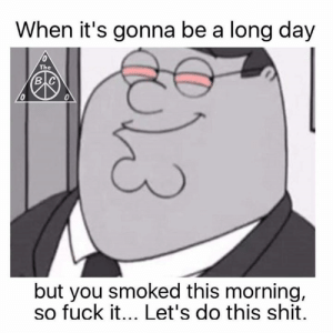 Fuck It Lets Do: When it's gonna be a long day  The  в с  0  but you smoked this morning,  so fuck it... Let's do this shit.