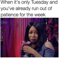 😑😂😂😂😂 pettypost pettyastheycome straightclownin hegotjokes jokesfordays itsjustjokespeople itsfunnytome funnyisfunny randomhumor: When it's only Tuesday and  you've already run out of  patience for the week  (5 HD 😑😂😂😂😂 pettypost pettyastheycome straightclownin hegotjokes jokesfordays itsjustjokespeople itsfunnytome funnyisfunny randomhumor