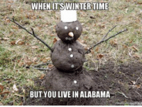 WHEN ITS WINTER TIME  BUT YOU LIVE IN ALABAMA memes Never have to worry about eating yellow snow