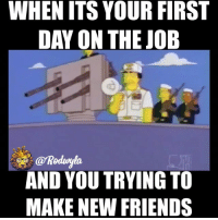WHEN ITS YOUR FIRST  DAY ON THE JOB  @koduyla  AND YOU TRYING TO  MAKE NEW FRIENDS The struggle 😫 @rodwyla insta_comedy rodwyla