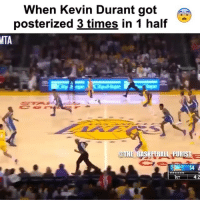 Damnn 💀 @the_basketball_purist: When Kevin Durant got  posterized 3 times in 1 half  MTA  THE BASKETBALL PURIST  Ce  IST  4:2 Damnn 💀 @the_basketball_purist